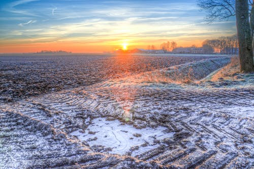 Photography of Snow during Sunset