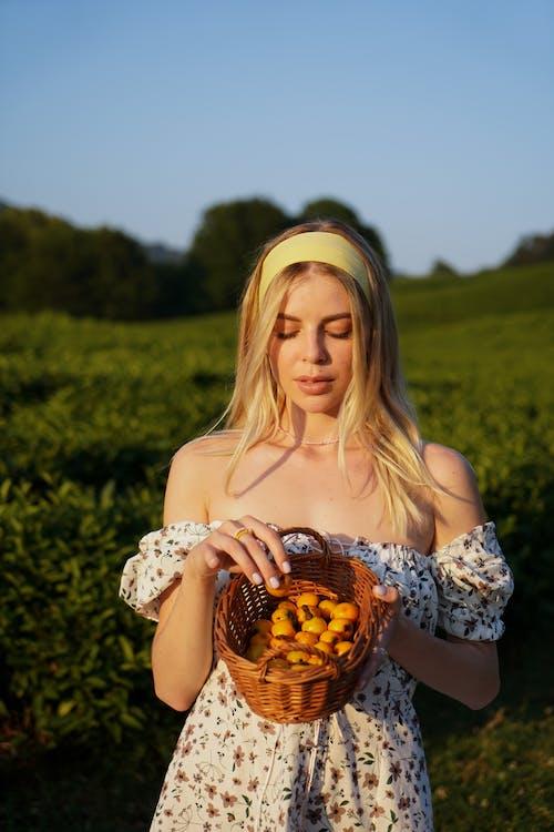 Fotobanka sbezplatnými fotkami na tému blondína, čelenka, držanie