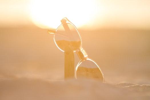 Free stock photo of sunset, beach, summer, eyewear