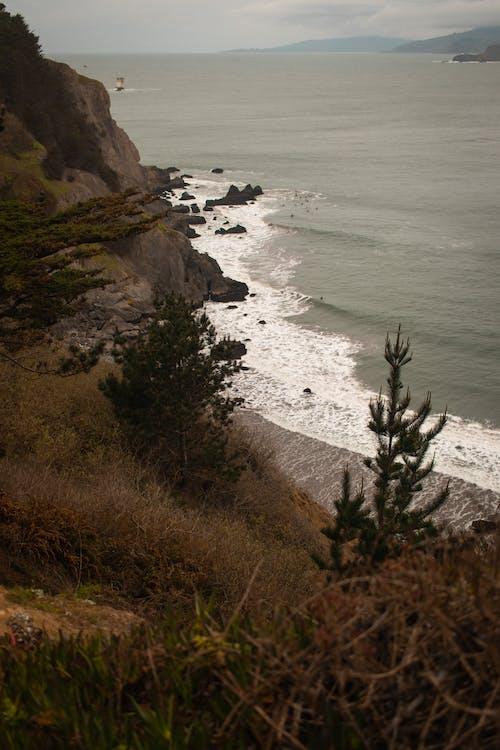 Gratis lagerfoto af bølger, fugleperspektiv, hav