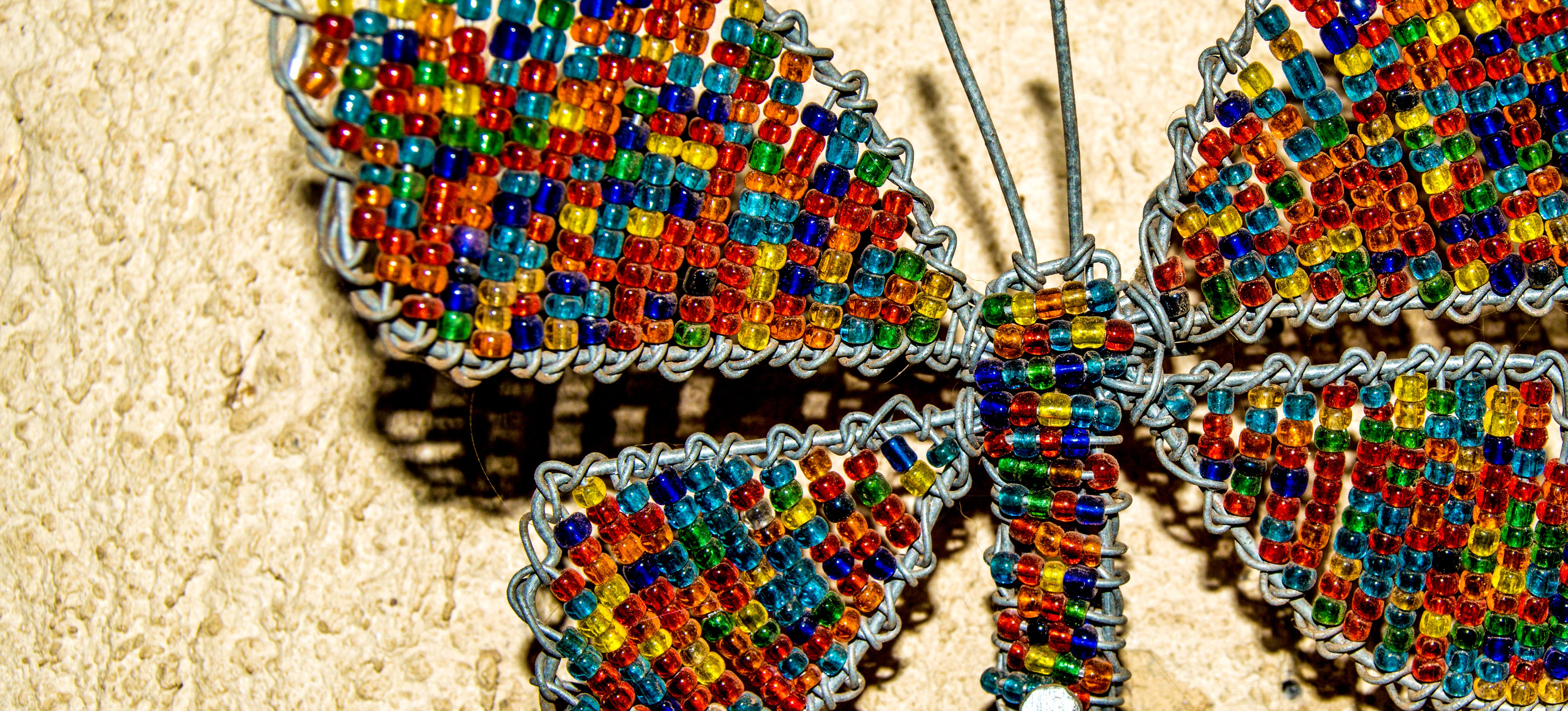 Free stock photo of butterfly, colourful, macro photography, metal art