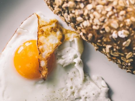 Free stock photo of bread, food, breakfast, egg