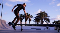 park, sport, skateboard
