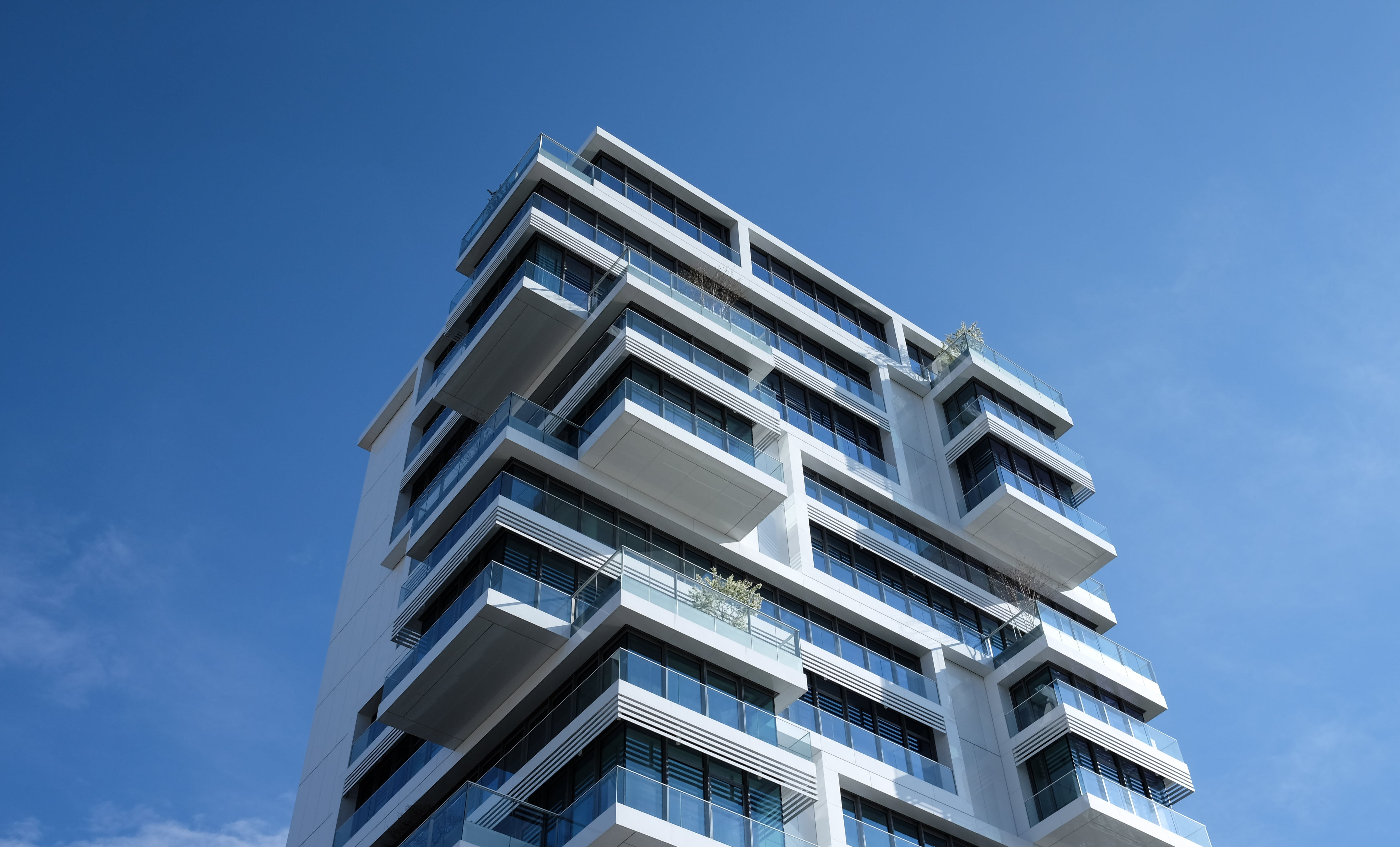 appartments, architektur, balkone