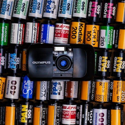 bağbozumu, ekipman, eski kamera, flaş içeren Ücretsiz stok fotoğraf
