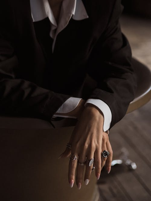 Photo of a Person Wearing Rings