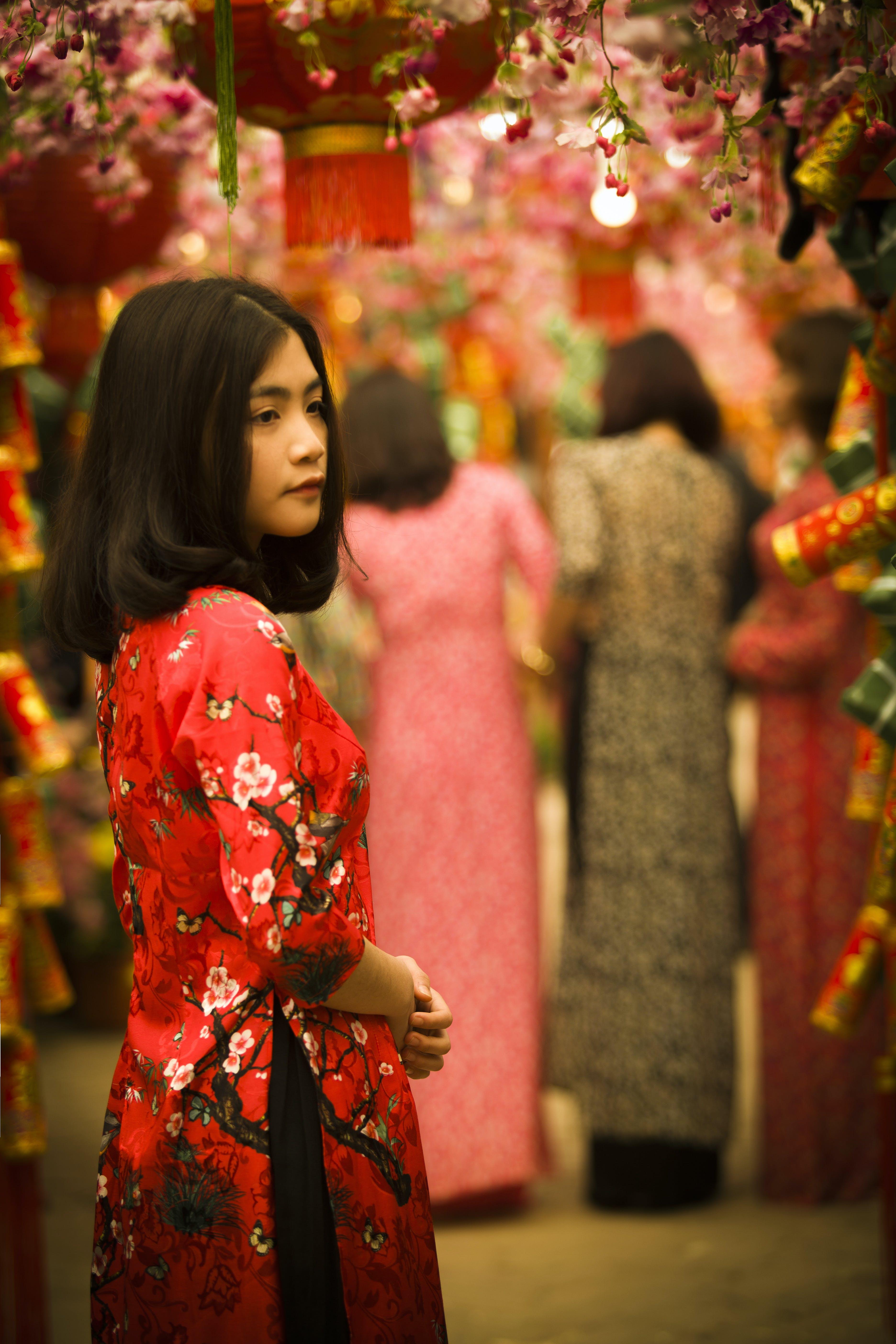 Kostnadsfri bild av asiatisk kvinna, asiatisk tjej, flicka, gata