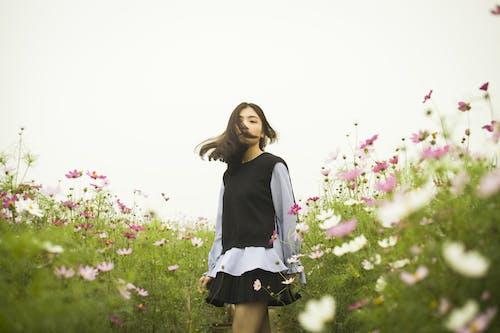 女人, 女孩, 植物群, 田 的 免費圖庫相片