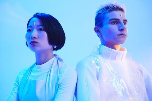 Gratis stockfoto met Aziatische vrouw, blauw licht, conceptueel