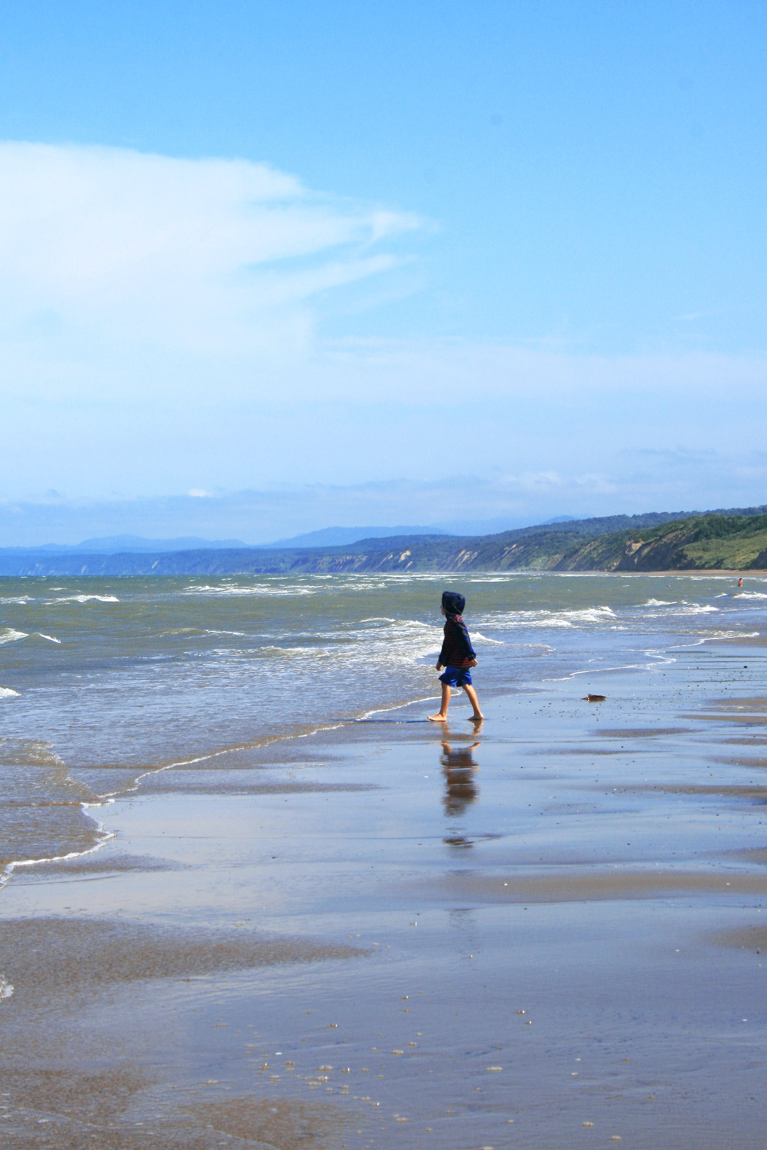Free stock photo of beach, blue, blue sky, boy