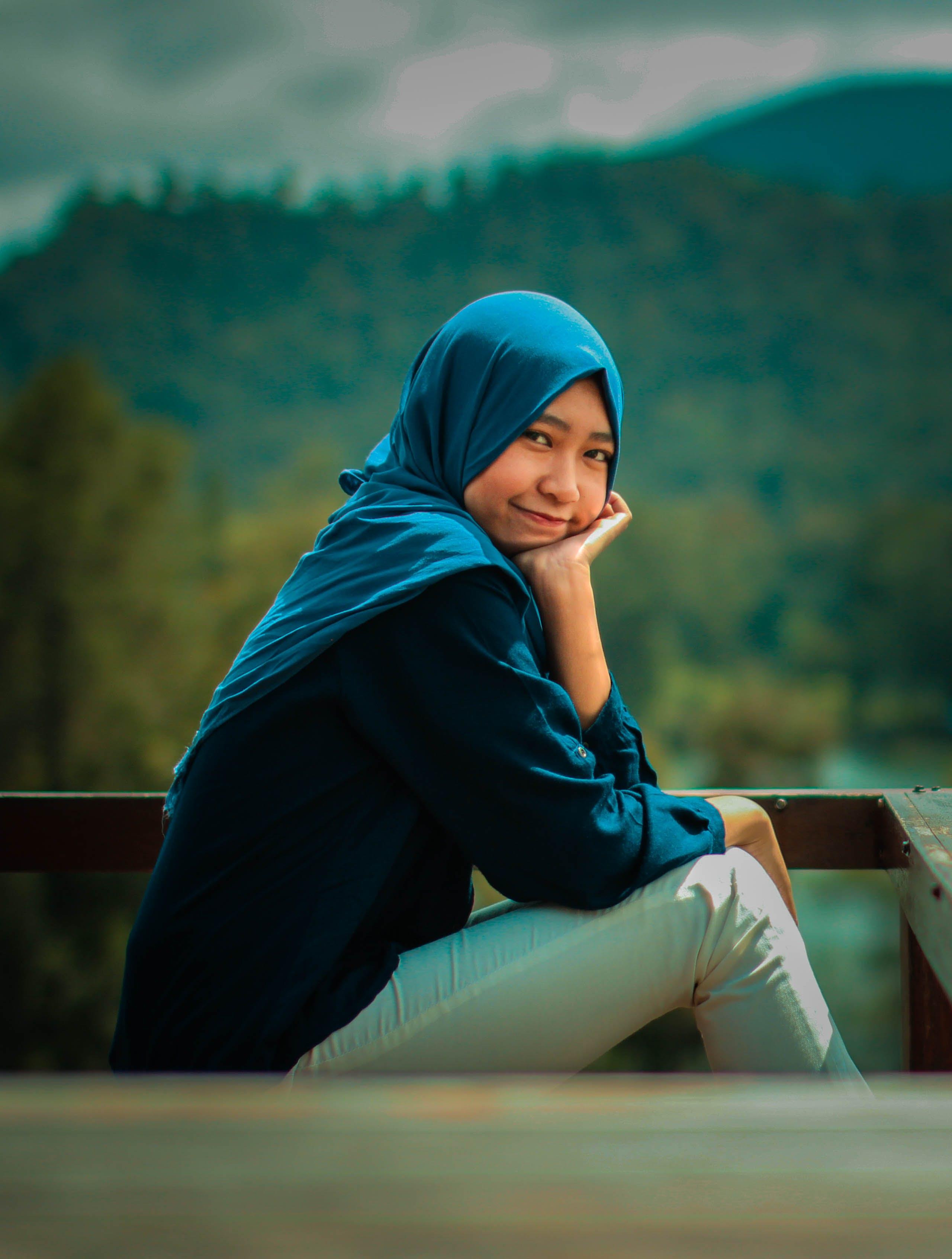 Free stock photo of blue, contrast, destination, female model