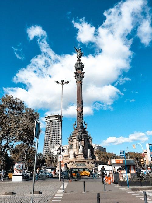 Free stock photo of barcelona, bcn, blue sky