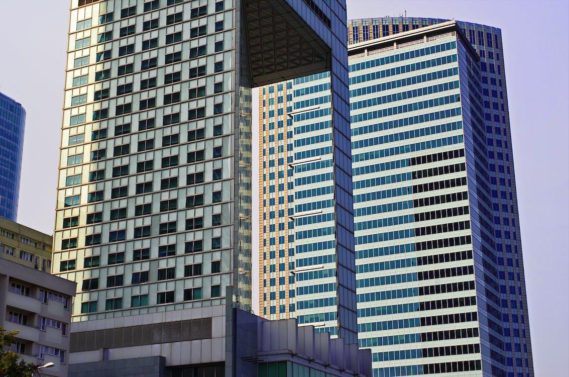 архітектура, багатоповерховий, будівлі