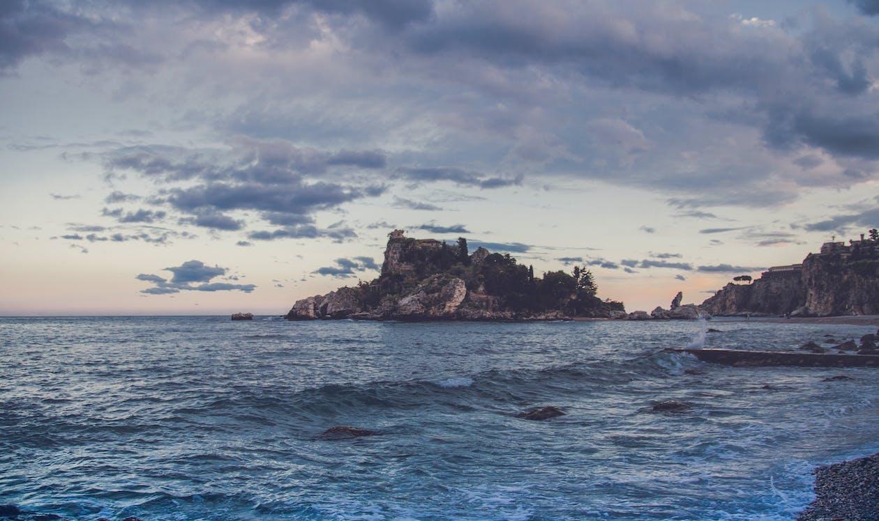 horizont, hrad, krajina