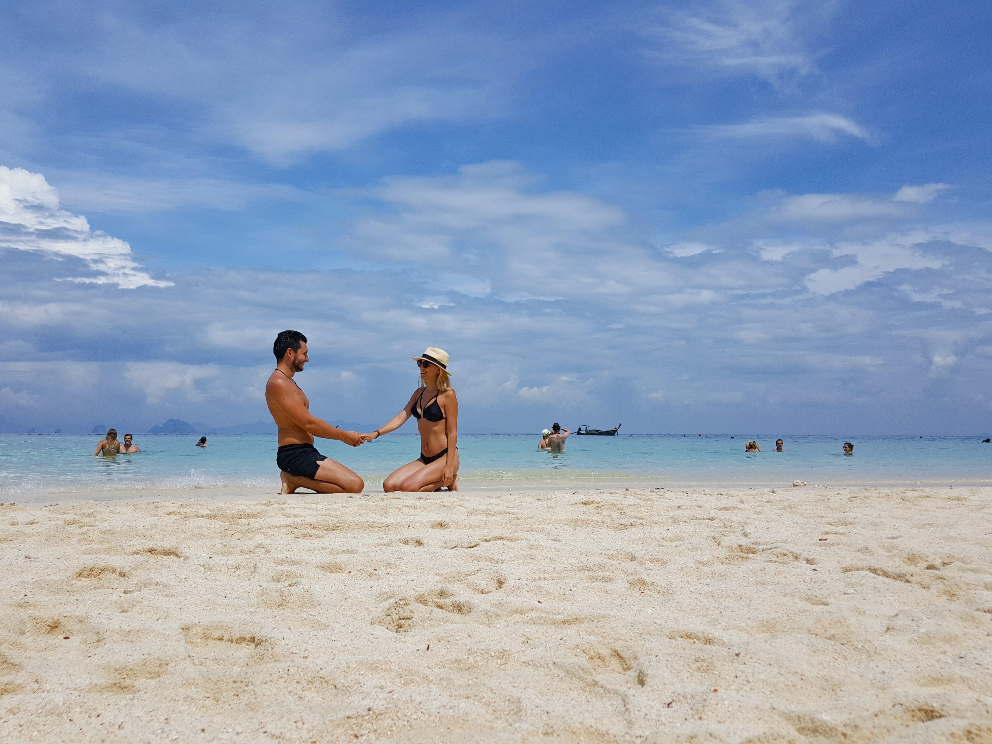 Free stock photo of beach, couple, holiday, love