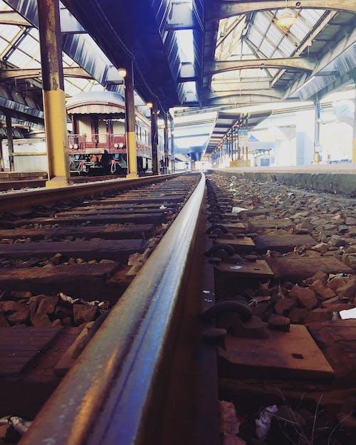 คลังภาพถ่ายฟรี ของ ทางรถไฟ, ฝึก, มุมมอง, รางรถไฟ