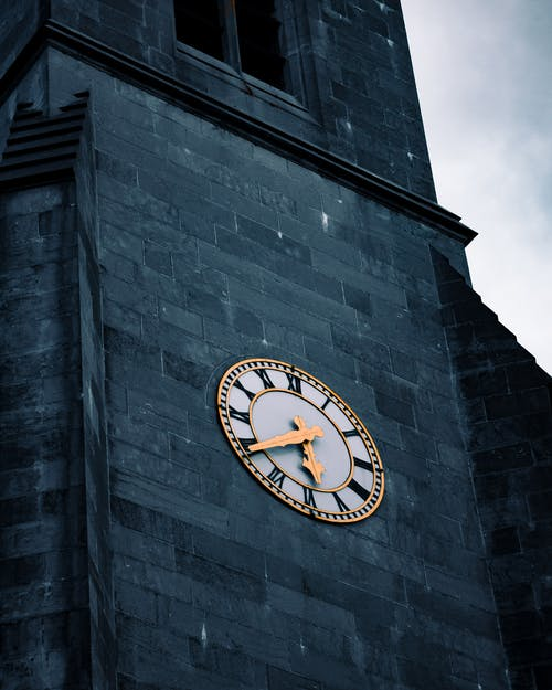 Free stock photo of church, goldenwatch, time