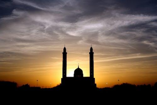 คลังภาพถ่ายฟรี ของ ตะวันลับฟ้า, ท้องฟ้า, พระอาทิตย์ตก, มัสยิด