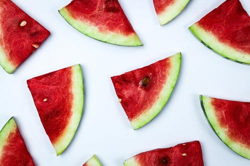 Sliced Watermelon on a White Surface