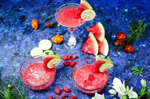 Watermelon Juice on Glasses