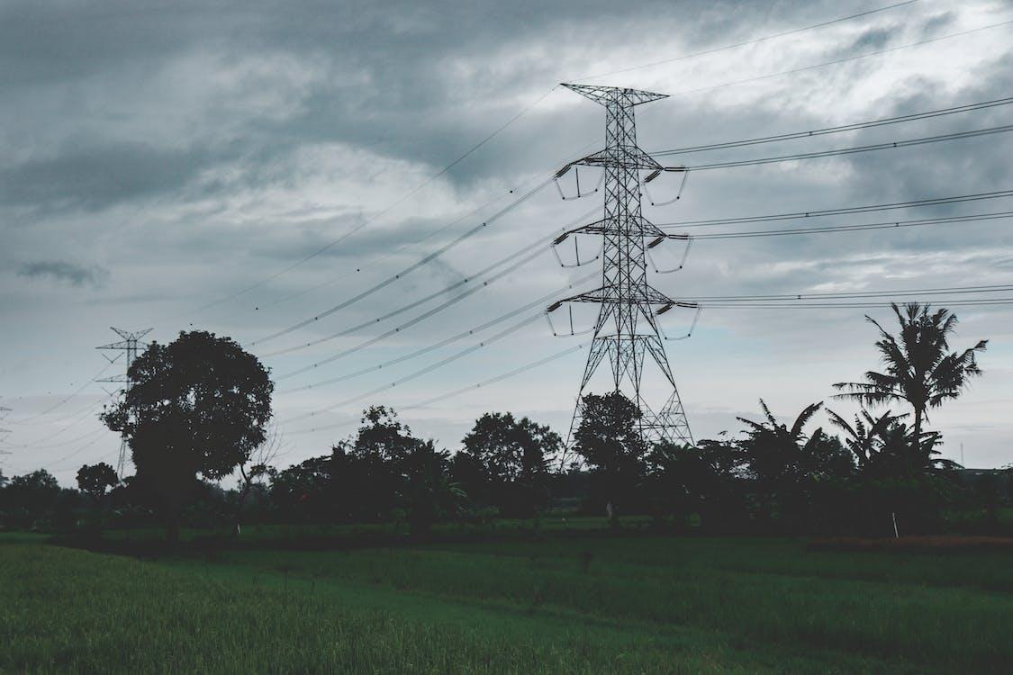 塔, 多雲的, 景觀