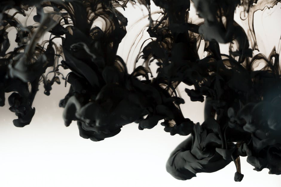 abstract, black, paint