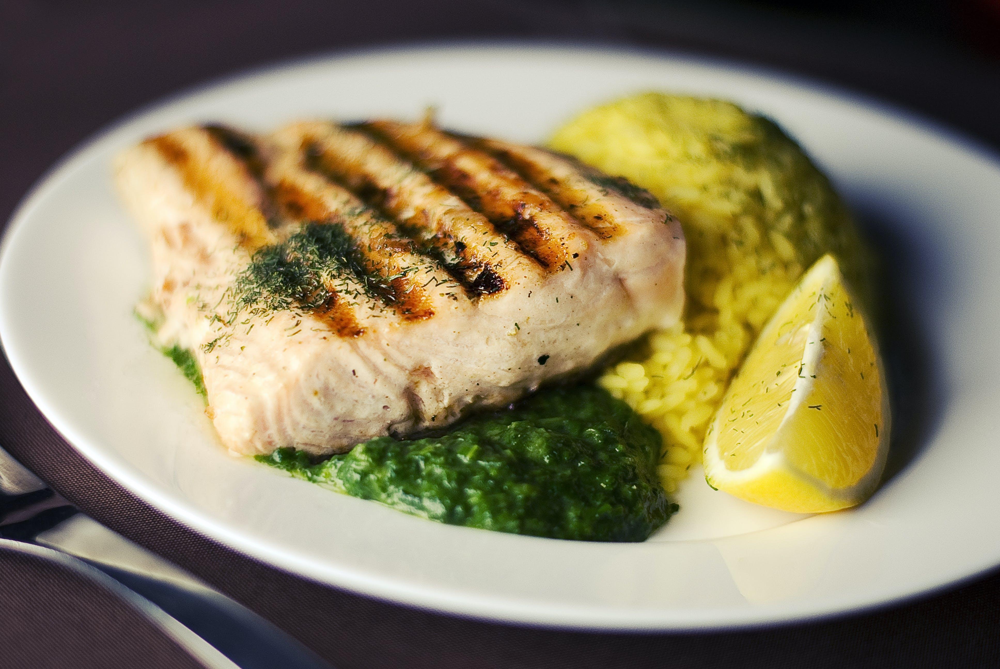 abendessen, essen, fisch