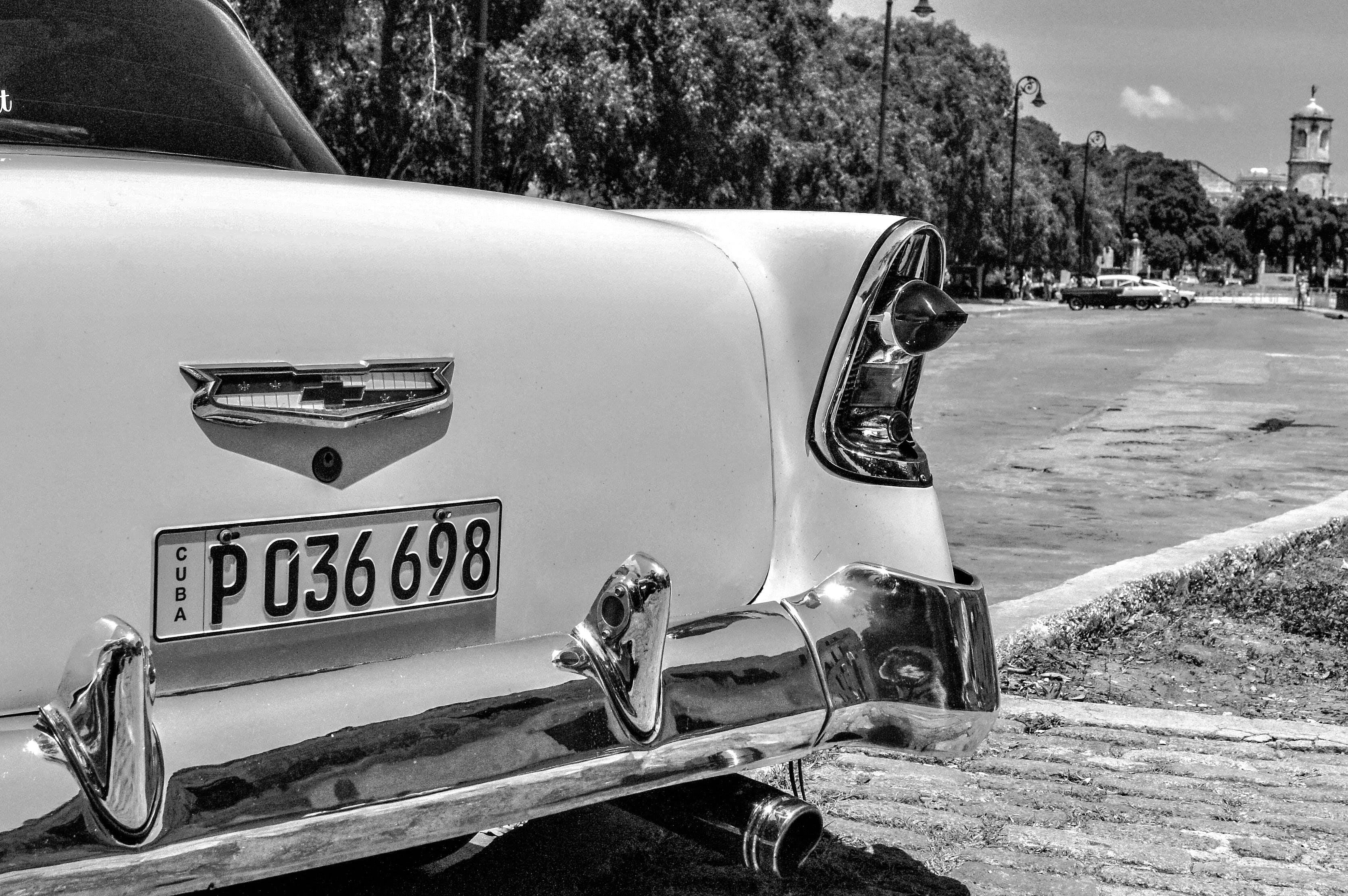 Free stock photo of black, black and white, black and-white, car