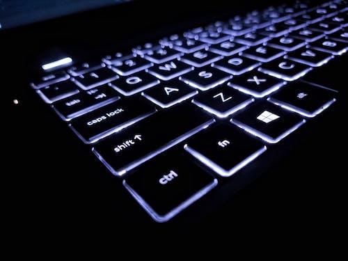 Free stock photo of backlit, backlit keyboard, computer