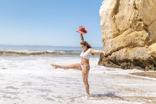 Imagine de stoc gratuită din apă, bikini albi, distracție