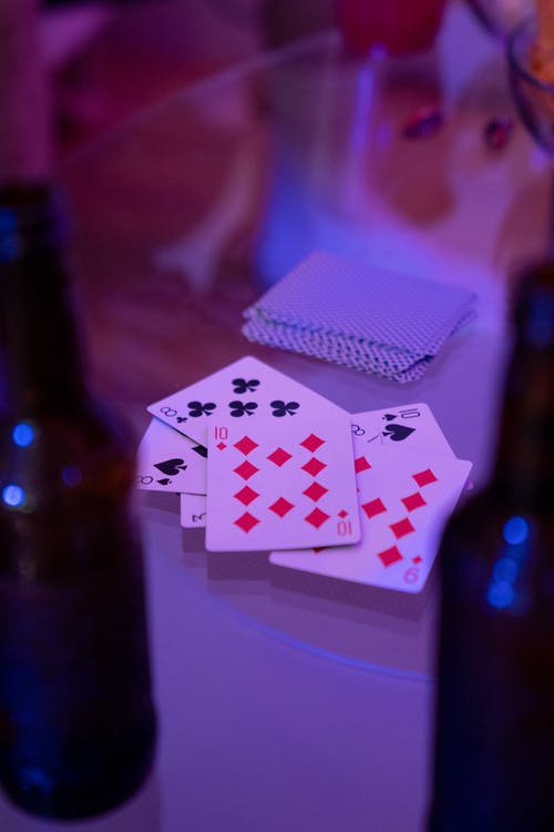 Deck of Cards on Glass Table
