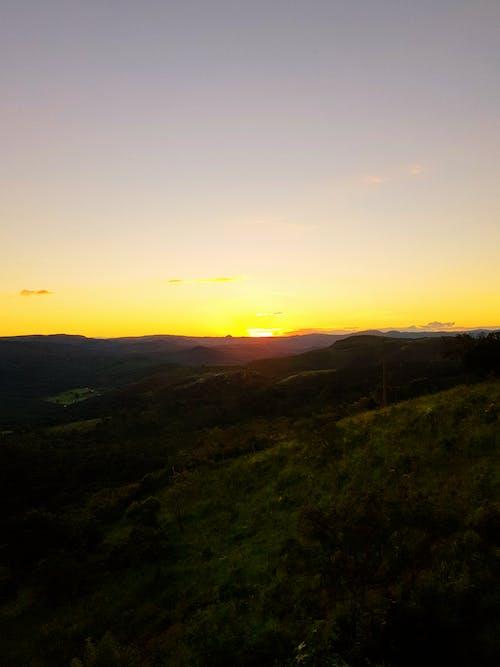 Foto stok gratis air, backlit, bukit