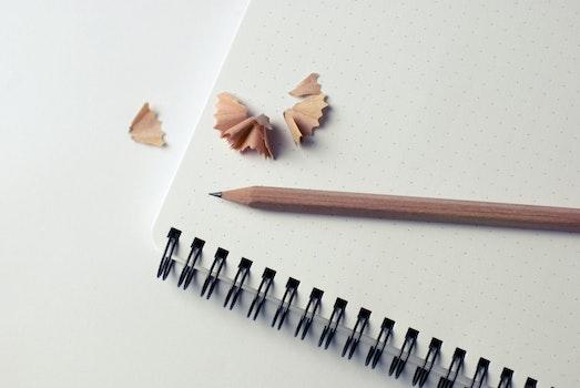 Kostenloses Stock Foto zu notizbuch, bleistift, notizen, skizzieren