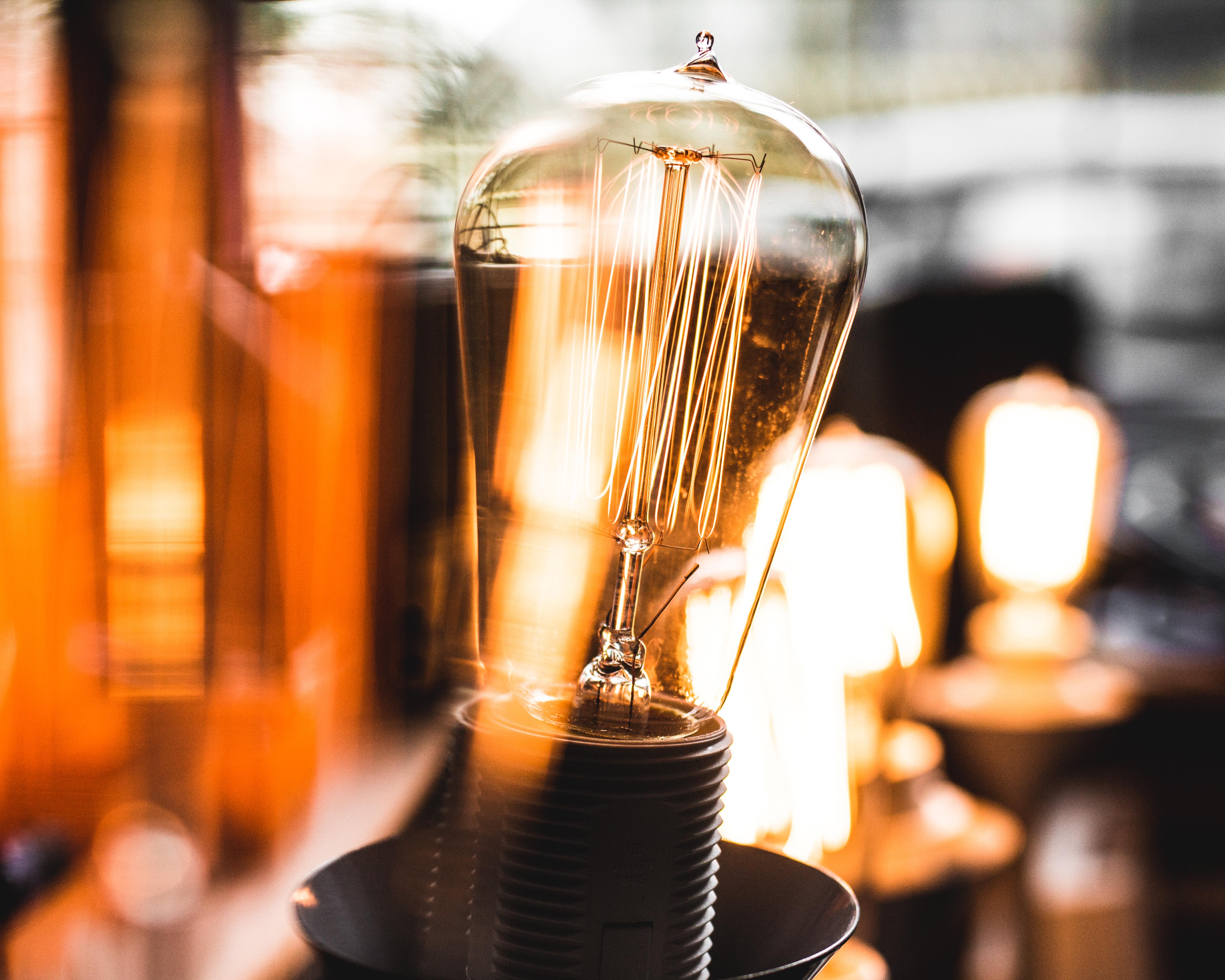 Light Bulb in Macro Shot Photography