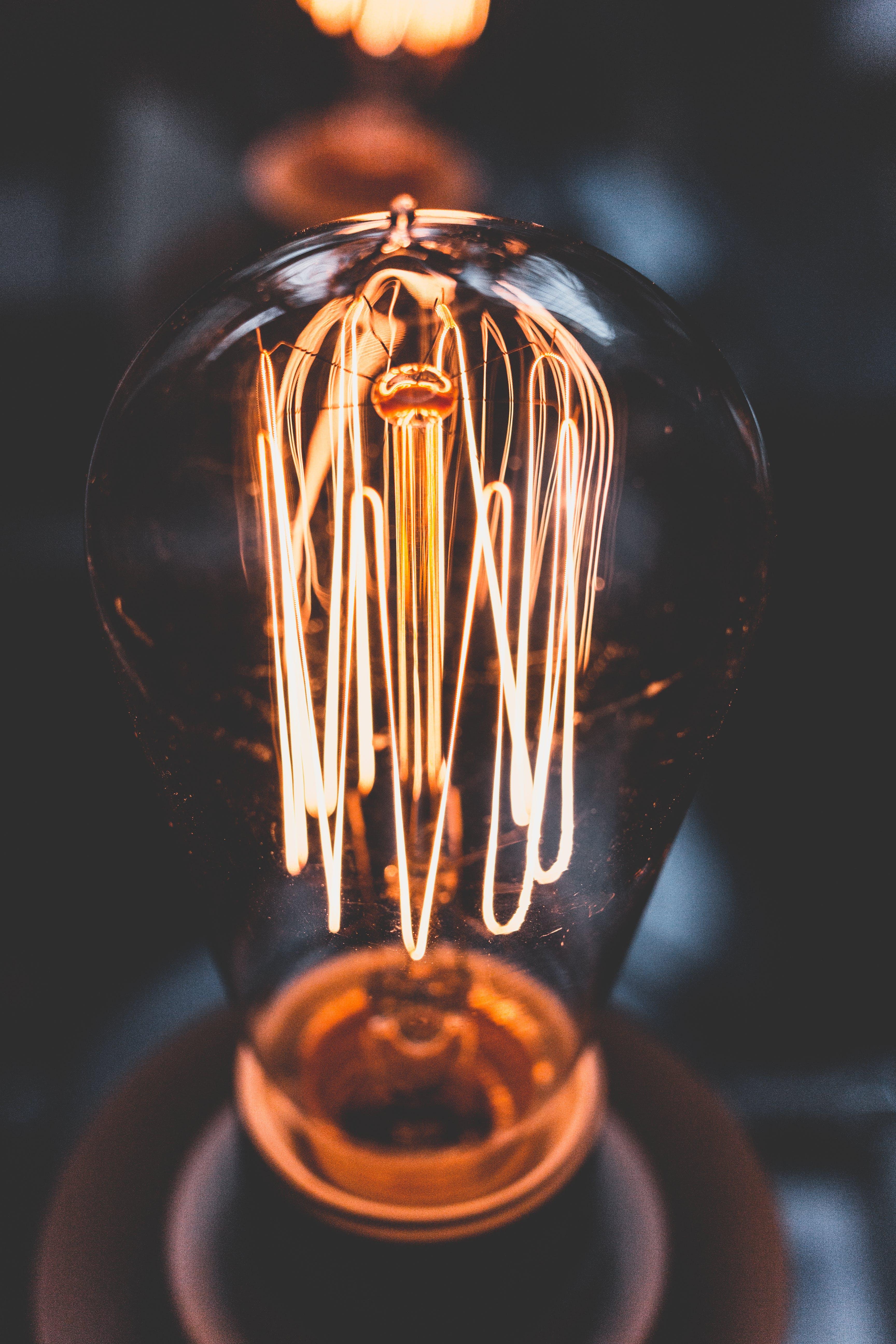 Close Up Photo of Incandescent Bulb