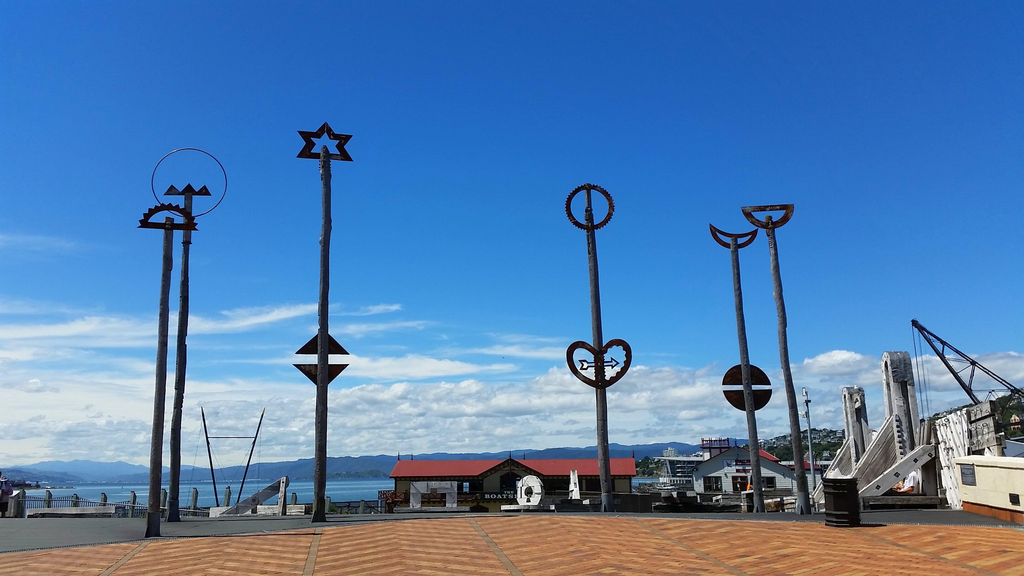 Free stock photo of art, blue sky, bridge, harbour