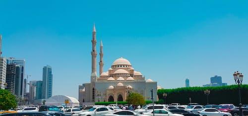 Gratis lagerfoto af al noor, Forenede Arabiske Emirater, himmel, moske