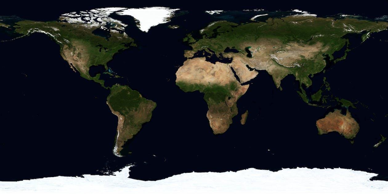 世界, 土地, 地圖