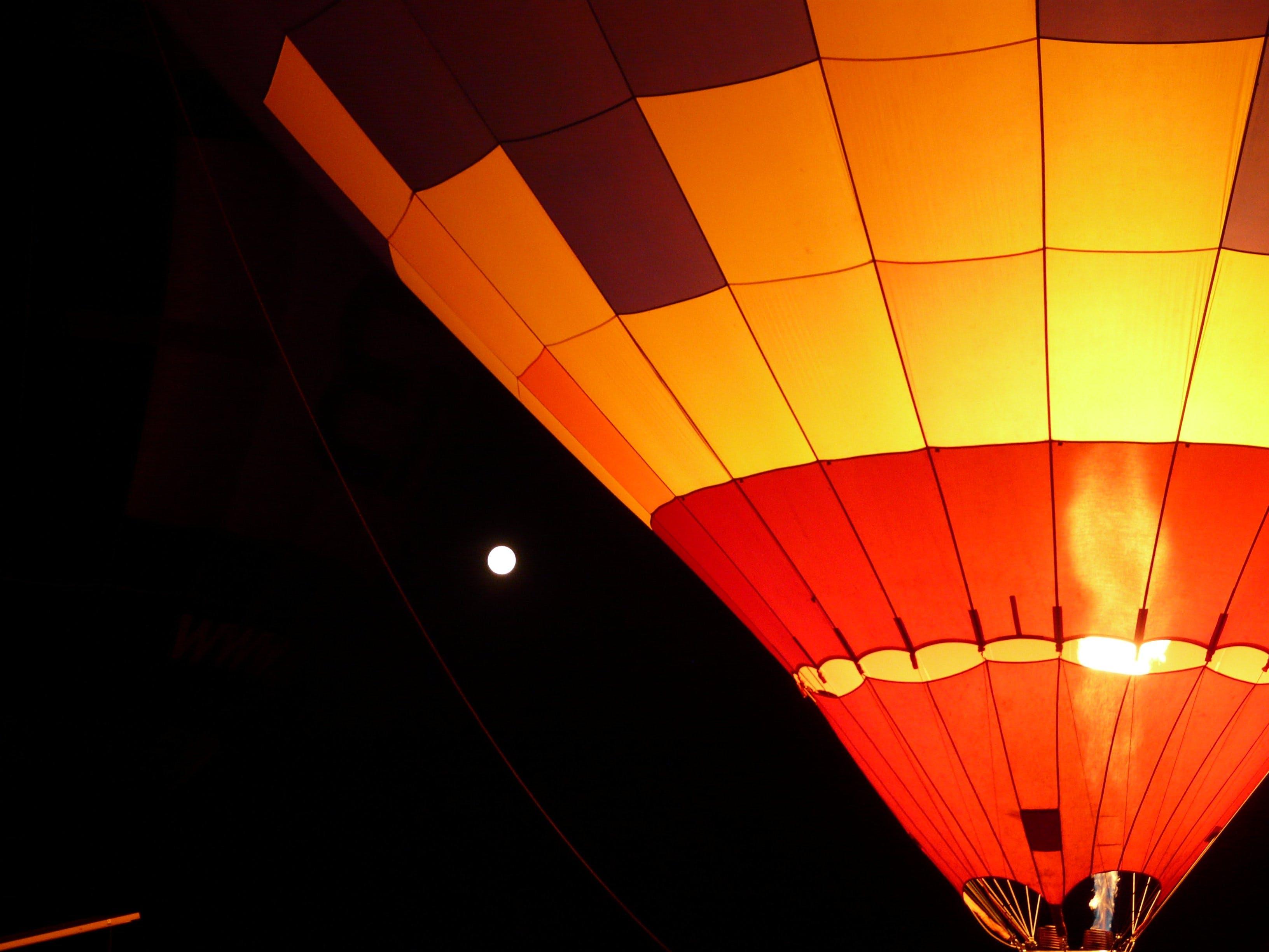 Gratis lagerfoto af ballon, ballon glød, lys, måne