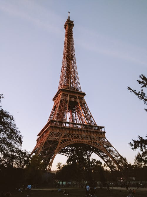 Low-Angle Shot of Eiffel Tower