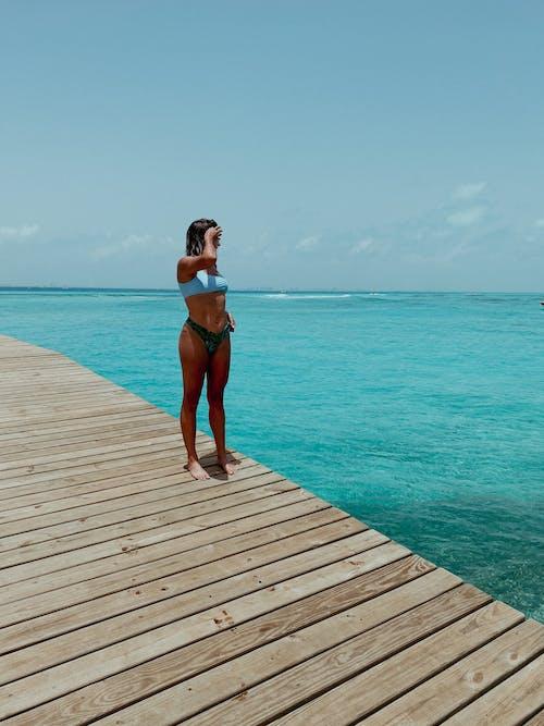 Free stock photo of bikini, blue water, cancun