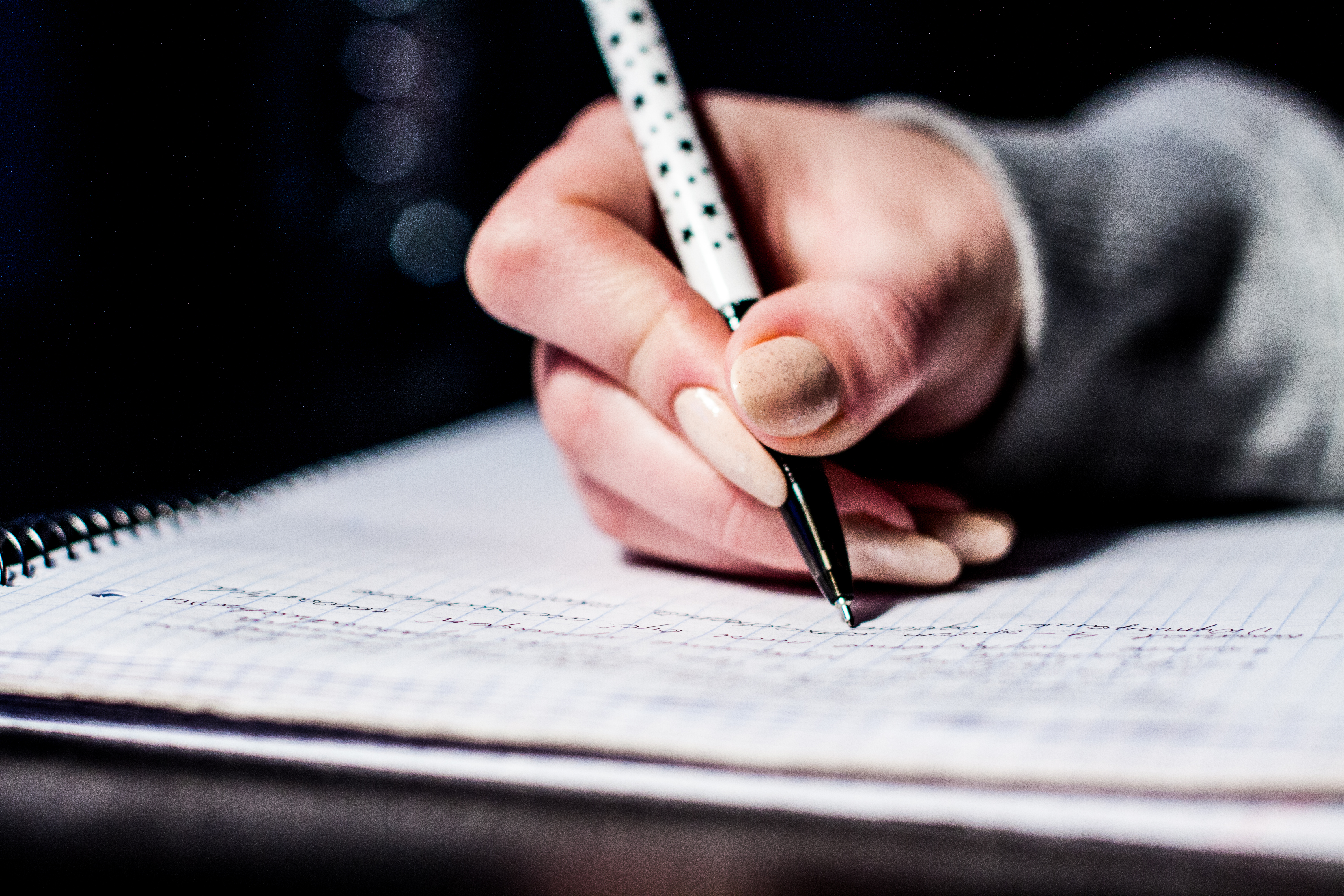 Free stock photo of pen, writing, notes, school