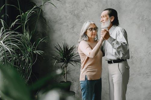 Photo of an Elderly Couple Dancing