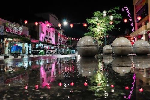 中國, 唐人街, 城市的燈光, 晚上 的 免費圖庫相片