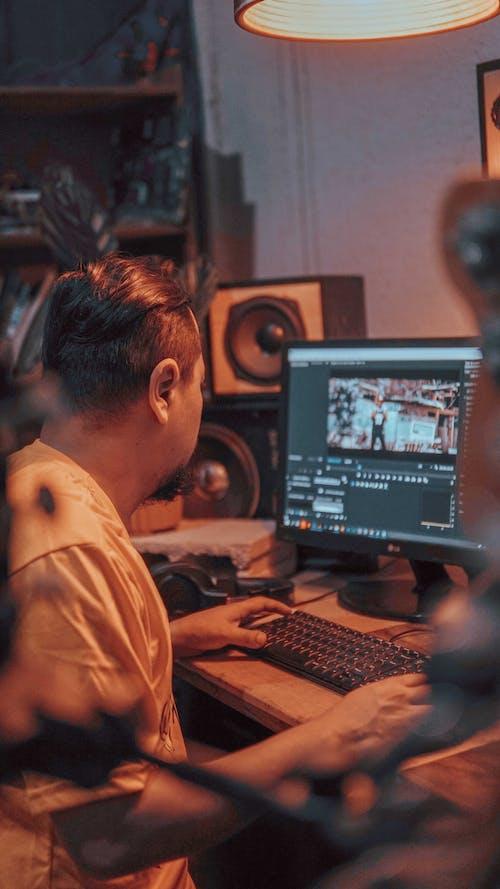 Free stock photo of recording studio, video editing