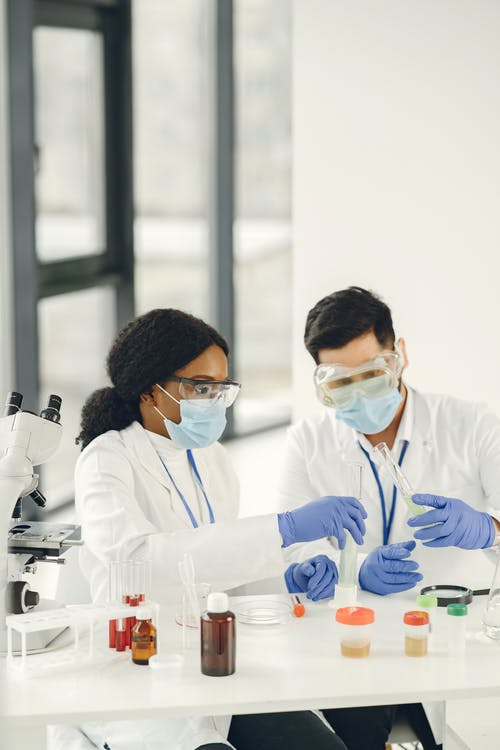 Laboratory Professionals Doing Testing