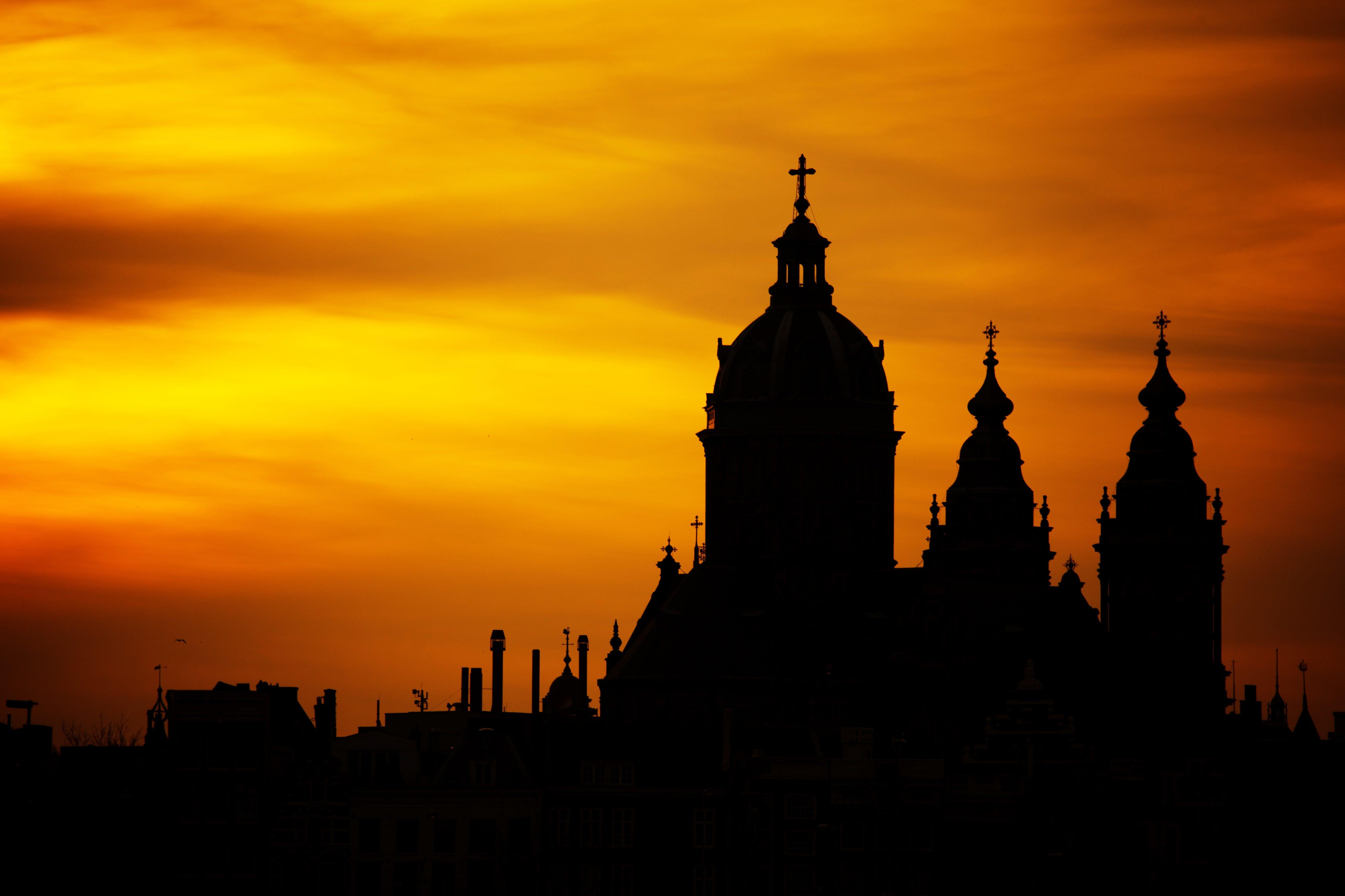 Silhouette Photo of Church