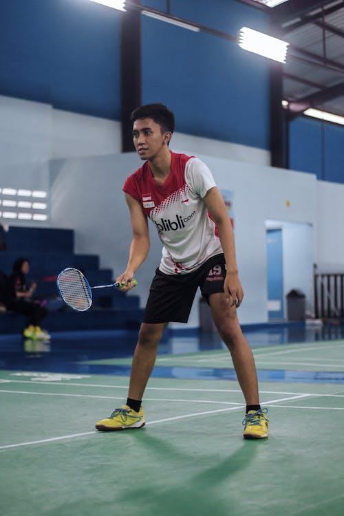 An Active Man Playing Badminton