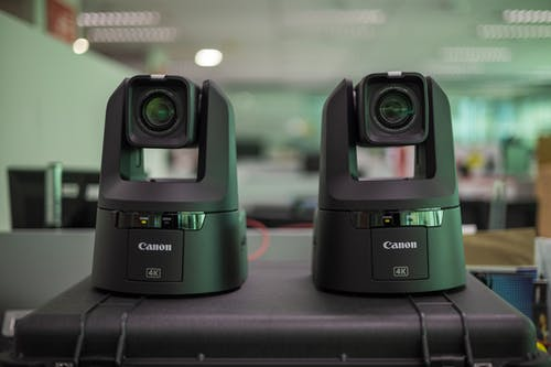 Black and Green Camera Lens