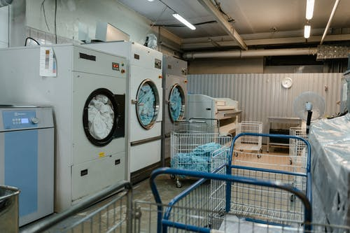 Heavy Duty Washing Machine in the Service Area